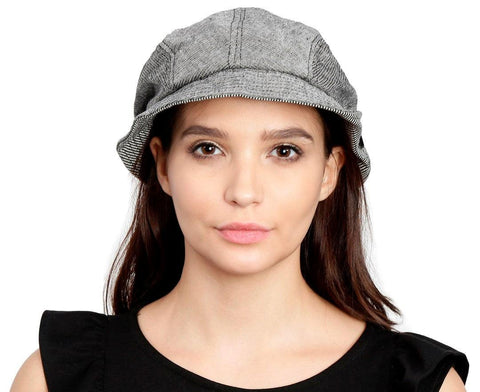 FabSeasons Plain Grey Foldable Cotton Fashion Cloche for Girls & Women