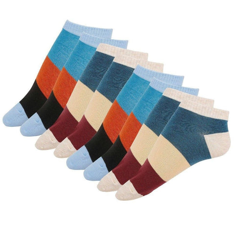 Cotton Extra Low Cut Socks, Combo of 4 pairs