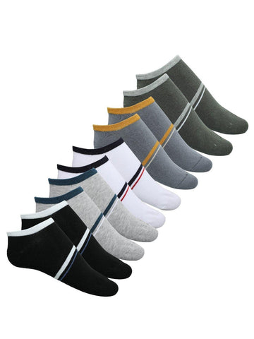 FabSeasons Solid Cotton Low Liner Socks for Men / Women. Combo of 5 pairs
