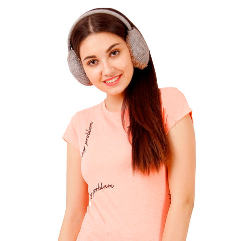 FabSeasons Grey Winter Outdoor Ear Muffs