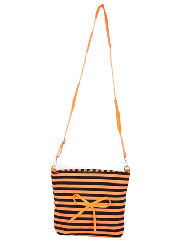 FabSeasons Orange-black Sling cross cloth Bags