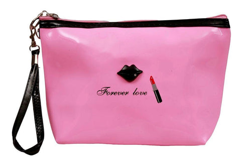 FabSeasons Large Forever Love BabyPink Toiletry- Makeup Bag - Pouch
