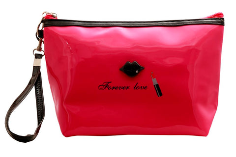 FabSeasons Large Forever Love DarkPink Toiletry- Makeup Bag - Pouch