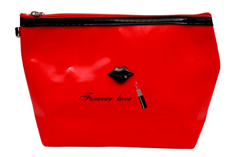 FabSeasons Large Forever Love Red Toiletry- Makeup Bag - Pouch