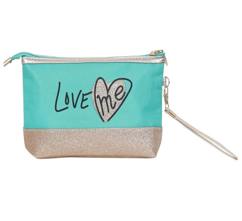 FabSeasons Large LoveMe Green Toiletry-Makeup Bag- Pouch