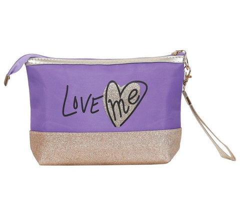 FabSeasons Large LoveMe Purple Toiletry-Makeup Bag- Pouch
