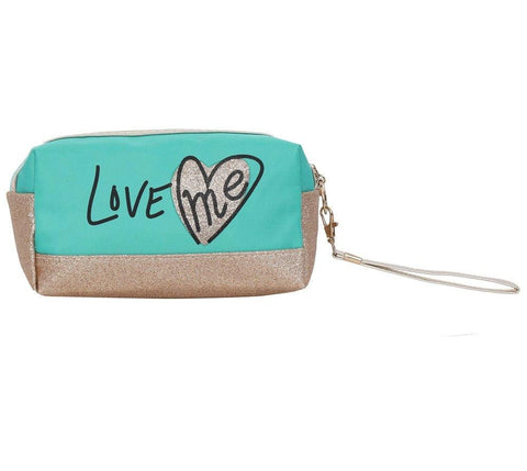FabSeasons Small LoveMe Green Toiletry-Makeup Bag - Pouch