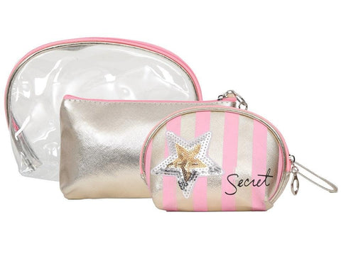 FabSeasons Pink 3 in one toiletry-makeup bag-pouch