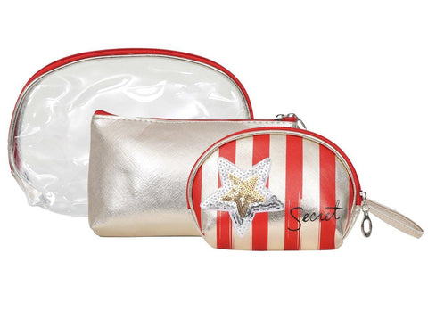 FabSeasons Red 3 in one toiletry-makeup bag-pouch.