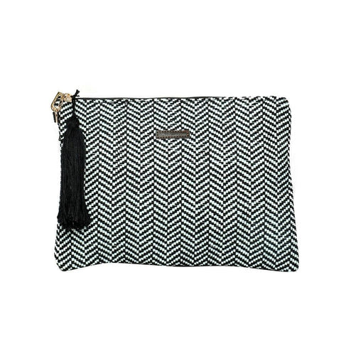 FabSeasons Unisex White-Black Toiletry, Travel ,Cosmetic, Pouch with Sling