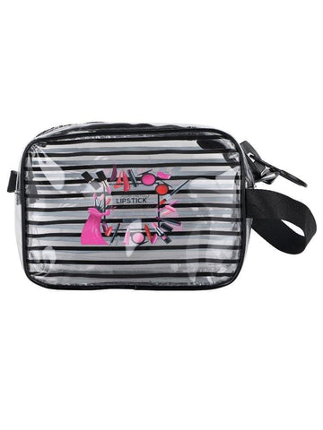 FabSeasons Black Transparent Handy Toiletry, Travel, Makeup Pouch