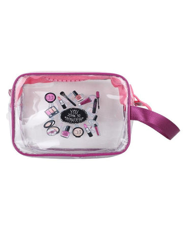 FabSeasons Purple Transparent Handy Toiletry, Travel, Makeup Pouch