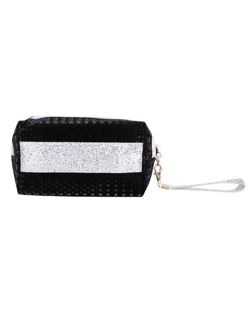FabSeasons Black Small Handy Toiletry/Travel/Makeup Pouch