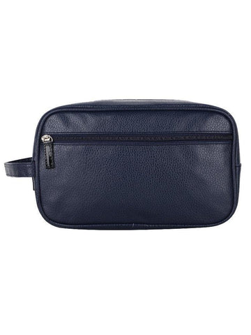 FabSeasons Blue Artificial Leather Handy Toiletry, Travel , Cosmetic Pouch