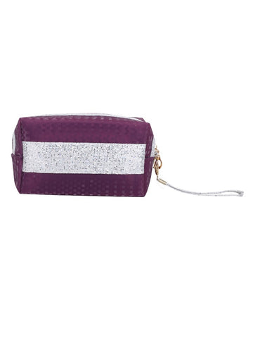 FabSeasons Purple Small Handy Toiletry/Travel/Makeup Pouch