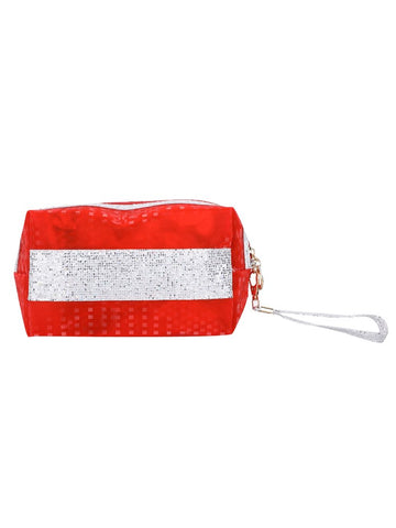 FabSeasons Red Small Handy Toiletry/Travel/Makeup Pouch