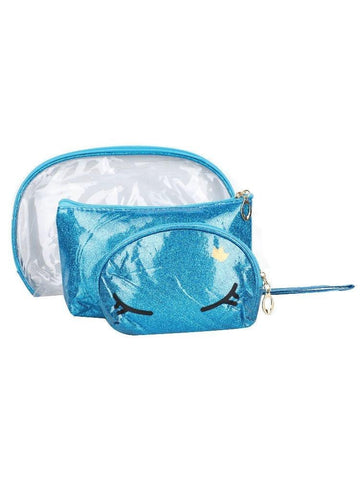 FabSeasons Crown Blue Combo of 3 Handy Toiletry, Cosmetic,Travel Pouch