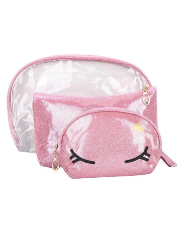 FabSeasons Crown Pink Combo of 3 Handy Toiletry, Cosmetic,Travel Pouch