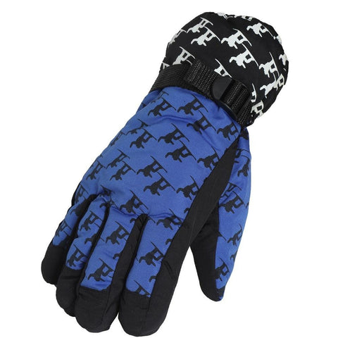 Fabseasons Blue Unisex Winter ski & snowboard Gloves
