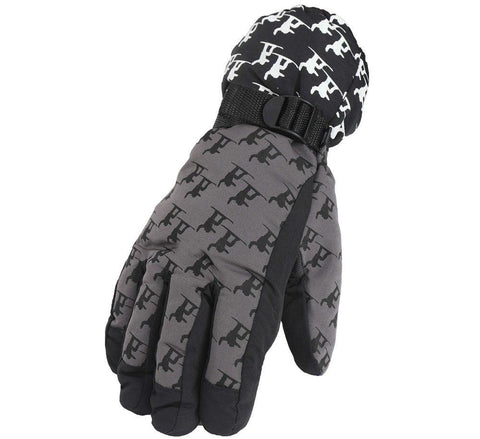 Fabseasons Grey Unisex Winter ski & snowboard Gloves