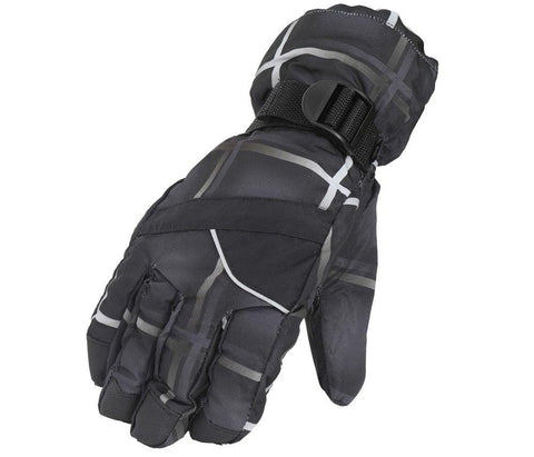 Fabseasons Black Winter ski & snowboard Gloves, Fleece cloth on the inside.