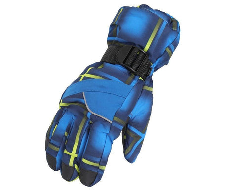 Fabseasons Blue Winter ski & snowboard Gloves, Fleece cloth on the inside