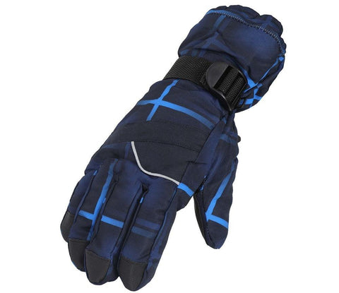 Fabseasons Navy Winter ski & snowboard Gloves, Fleece cloth on the inside