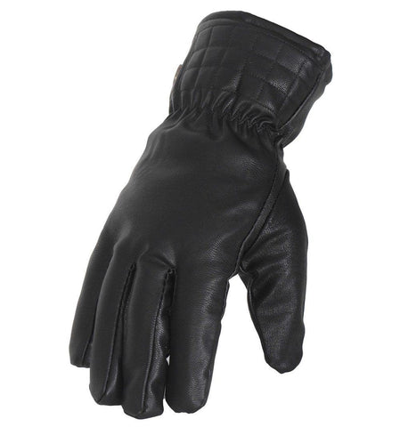 Fabseasons Unisex Water Resistant Black Winter Gloves, warm cloth on the inside