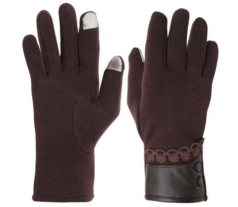 Fabseasons Brown Woolen Winter gloves with Touchscreen fingers for girls & women