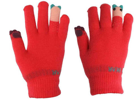 Fabseasons Acrylic Pink Woolen Winter Gloves for Girls & Women