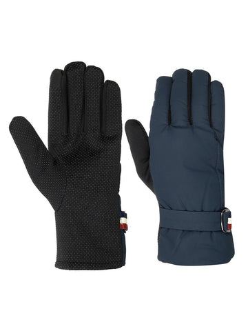 FabSeasons Unisex Solid Winter Blue Gloves with Fleece cloth