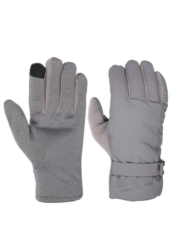 FabSeasons Unisex Solid Winter Grey Gloves with Fleece cloth