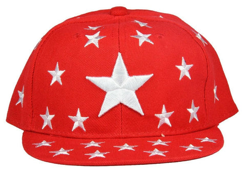 FabSeasons Red Casual Snapback, HipHop, Flat, Summer Cap