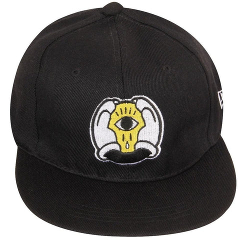 FabSeasons Black Cotton Casual Snapback Hat, Hiphop Caps and Flat Cap & Hat