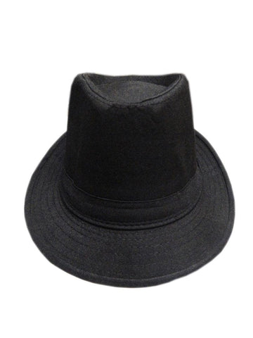 Fabseasons Black Casual Fedora Hats