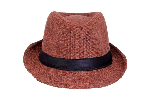Fabseasons Mens Brown Fedora Hat