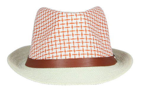 FabSeasons Orange Pink Casual Fedora Hats