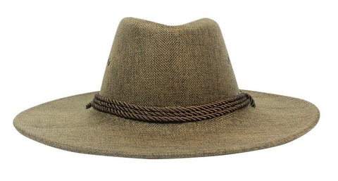FabSeasons Brown Casual Long Brim Cowboy Hat