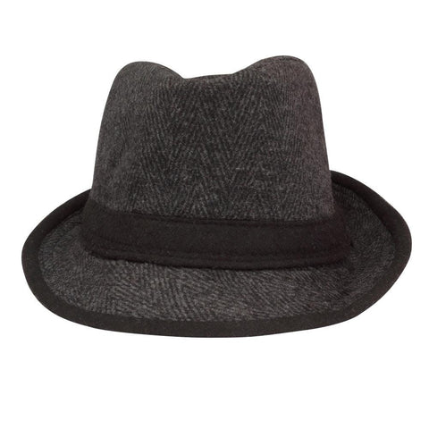 FabSeasons Plain Black Casual Fedora Hat