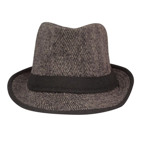FabSeasons Brown Casual Fedora Hat