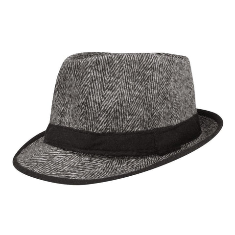 FabSeasons Grey Casual Fedora Hat