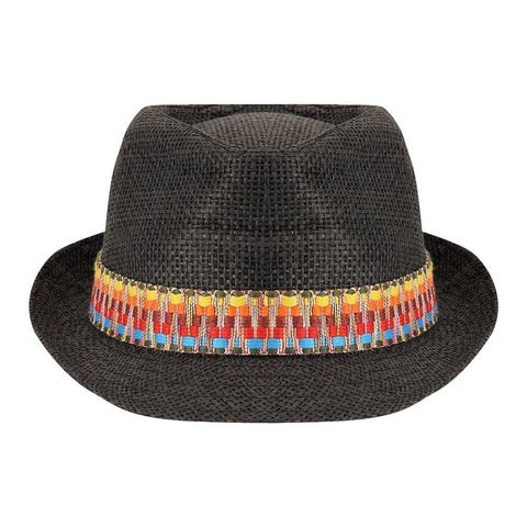 FabSeasons Traditional Black Fedora Hat