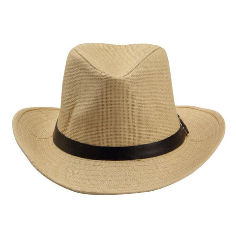 Fabseasons Beige Casual Hats with Black Belt