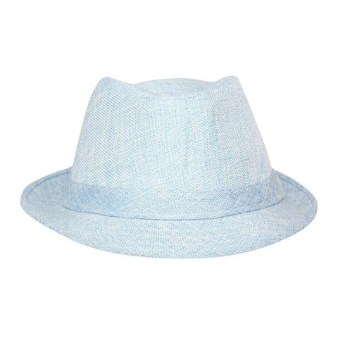FabSeasons Blue Casual Self Design Fedora Hat