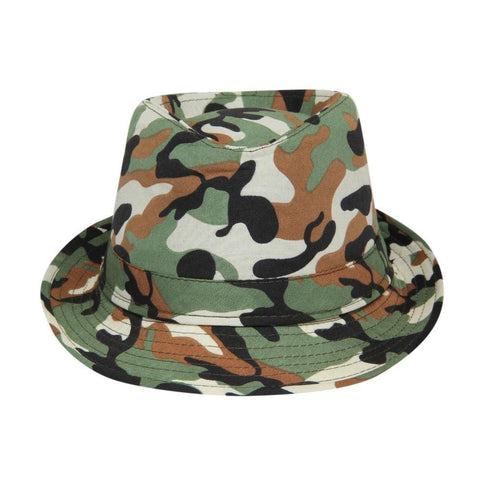 FabSeasons Casual Camouflage Fedora Hat