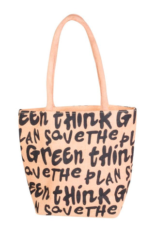 Fabseasons Save the Planet Jute Tote Bag
