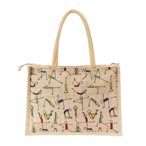 Fabseasons Jute Yoga Shopping Bag