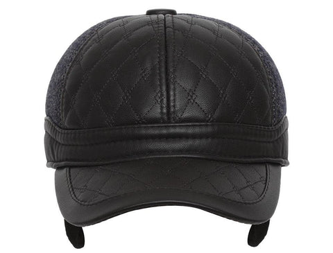 Casual Unisex Brown Baseball cap with foldable ear cover for winters