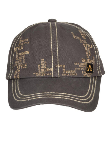 Fabseasons Solid Brushed grey Color Cotton Cap