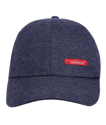 Fabseasons Blue Cotton Baseball Cap